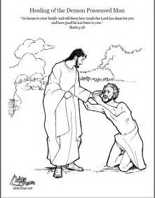 jesus storybook bible coloring pages jesus and the possessed coloring page script