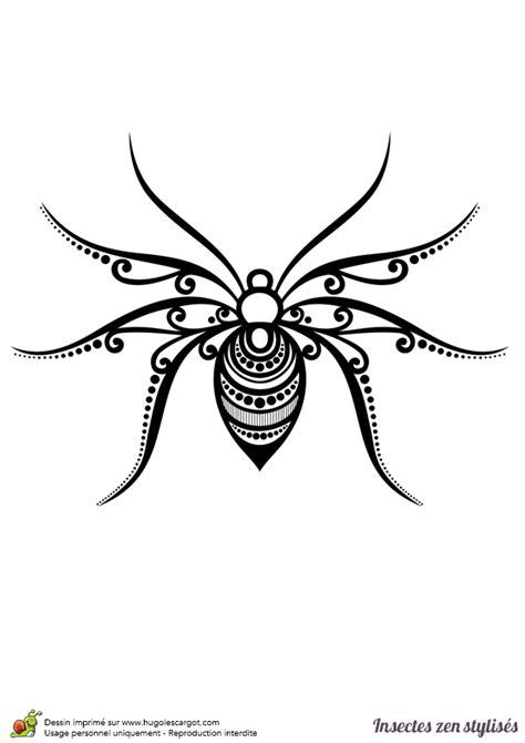 Garden Spider Coloring Page Dessin 224 Colorier D Une Araign 233 E Stylis 233 E Hugolescargot