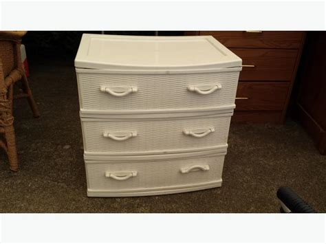 Plastic Dresser Drawers Plastic Wicker Dresser Drawer Saanich