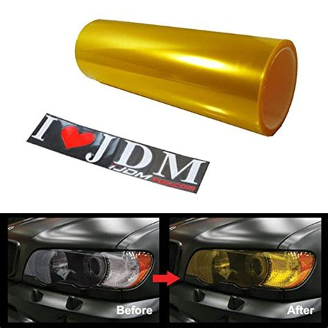 Yellow Fog Light Tint 12 by 48 inches self adhesive jdm golden yellow headlights