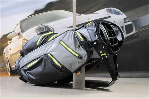 Porsche Golf Trolley by Neu Orig Porsche Golfbag Golftasche In Schwarz Grau