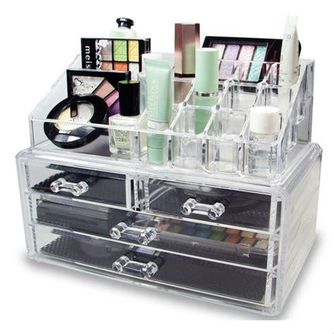 Rak Kosmetik Keropi jual tempat rak makeup kosmetik bening acrylic desktop
