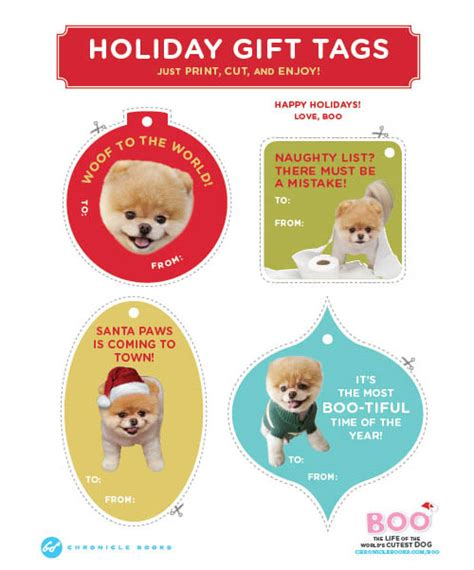 printable dog gift tags free printable quot boo the world s cutest dog quot gift tags