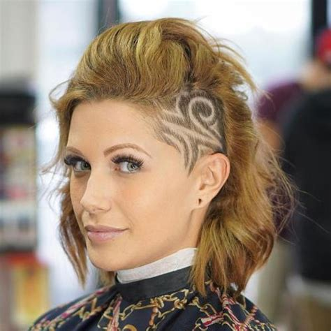one side shaved off hair 20 cute shaved hairstyles for women