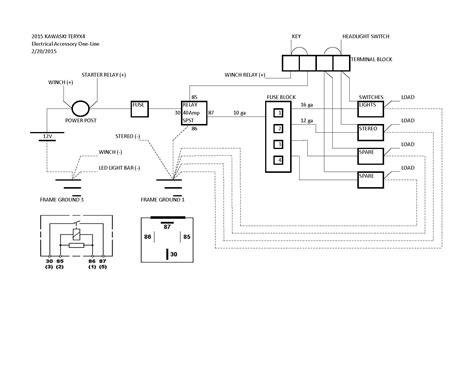how to wire my fuse block kawasaki teryx forum