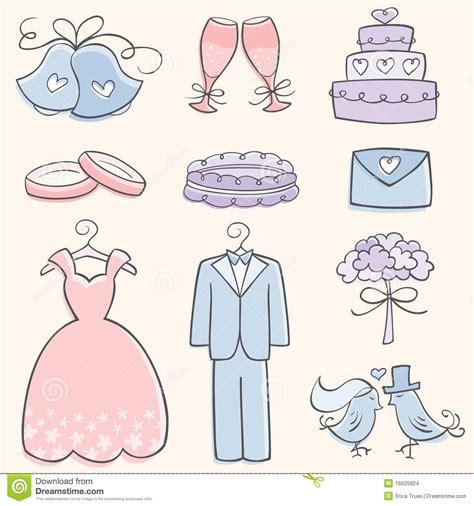 doodle elementos elementos de la boda doodle imagenes de archivo