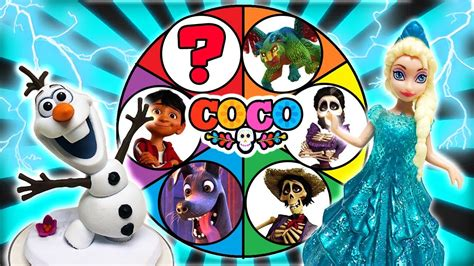 coco olaf spin the wheel game with olaf s frozen adventure coco