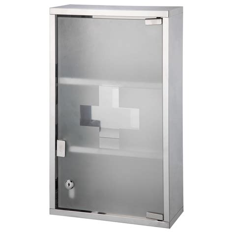 large first aid cabinet glass door wall mounted lockable medicine cabinet cupboard