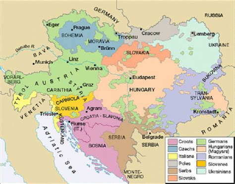 the habsburg empire a map showing how the habsburg empire was peopled by various races history empire