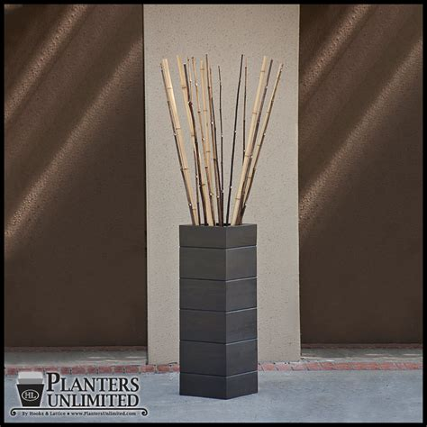 decorative bamboo canes in a wood grain planter artificial bamboo decorative bamboo sticks