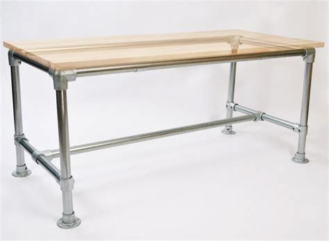 Pipe Frame Desk by Pipe Desk Frames Attach To Any Table Top