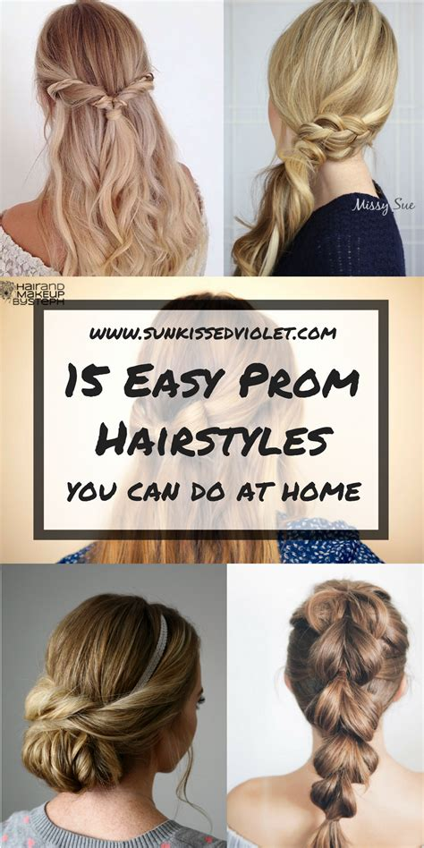 15 easy prom hairstyles for hair you diy at home top blogs viral board
