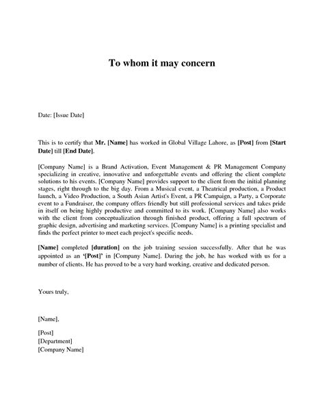 Sle Cover Letter Of Interest letter of interest for internship sle letter of interest