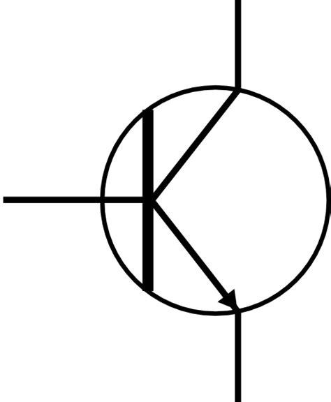 transistor npn simbol transistor clip at clker vector clip royalty free domain