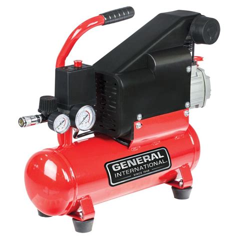 portables general international air compressors 2 gal 1 hp lubricated portable electric