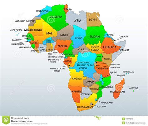 mapa dafrica politic mapa pol 237 tico de 193 frica imagen de archivo libre de