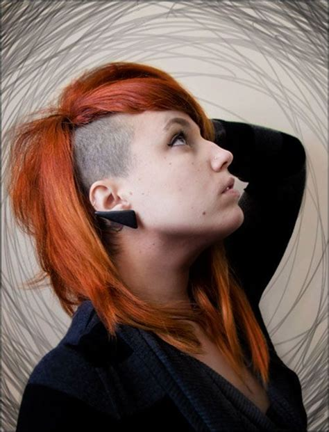 part shaved hairstyles for women side shaved hairstyles for women 2013 girl has