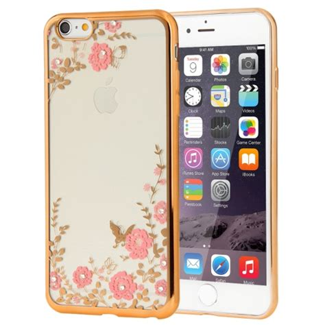 Armor Electroplate Glossy Iphone 66s Plus Black sunsky for iphone 6 plus 6s plus flowers patterns