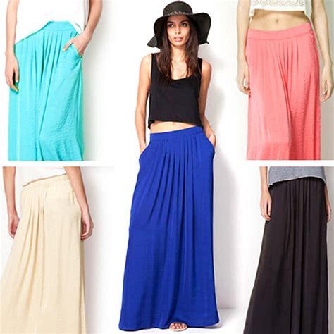 2016 satin skirt elastic waist floor length