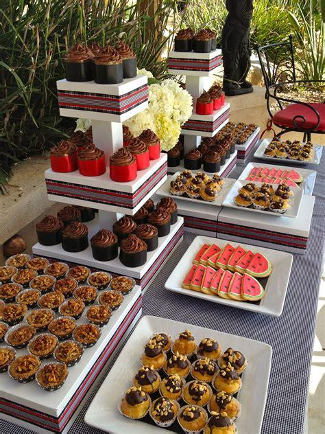 dessert table at backyard wedding reception backyard weddings dessert