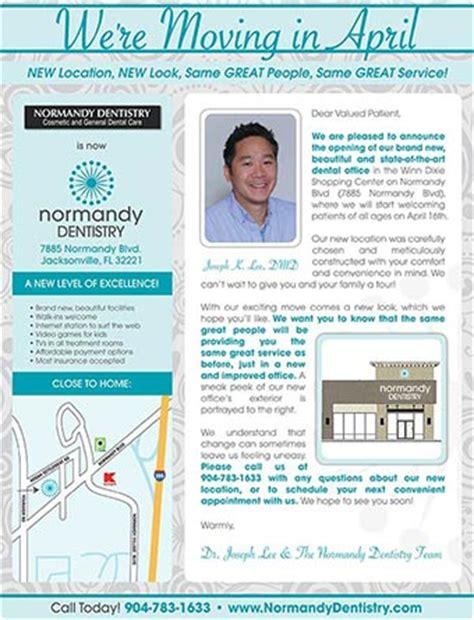 Patient Transition Letter referral marketing design for dental offices practice cafe