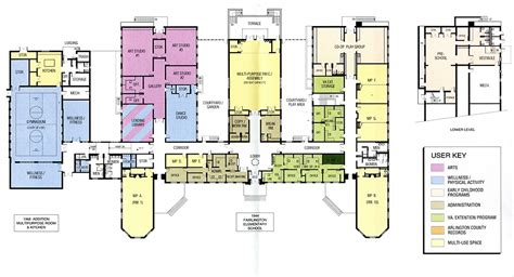 Center Courtyard House Plans by Fairlington Community Center Amp Park Parks Amp Recreation