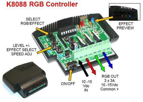 rgb led and light controller electronic kit k8088