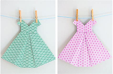 Paper Dress Craft - 6 fabulous diy origami crafts handmade