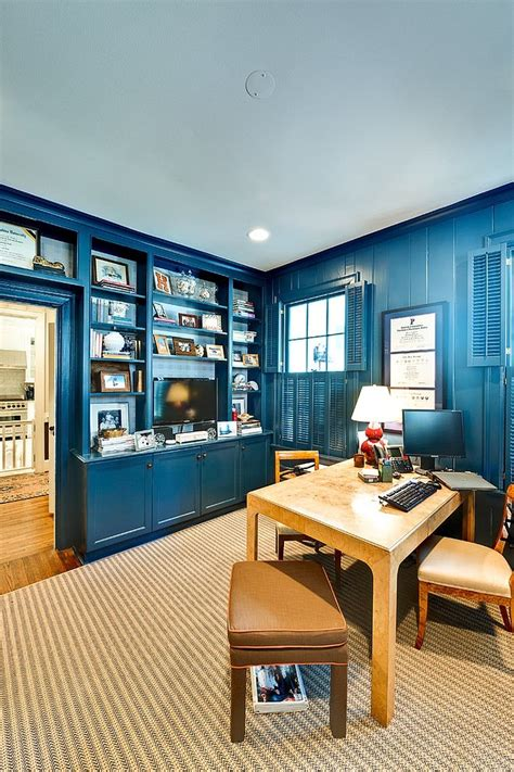 navy blue home decor 10 eclectic home office ideas in cheerful blue