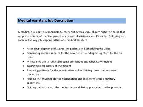 10 sle resume for medical assistant job description