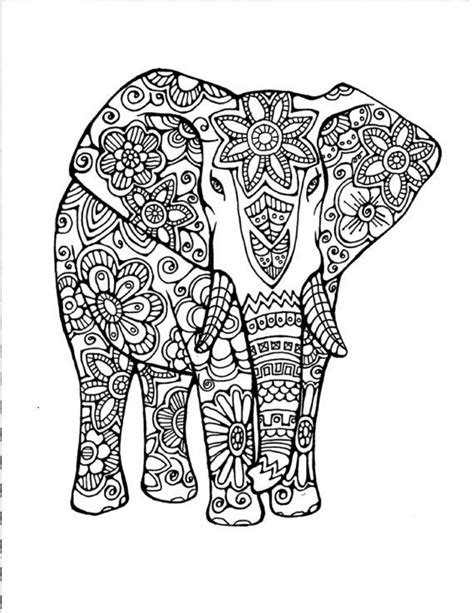 complicated elephant coloring pages coloring pages for adults difficult owls google search