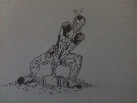 imagenes en blanco y negro sencillas deadpool blanco y negro por fafu dibujando