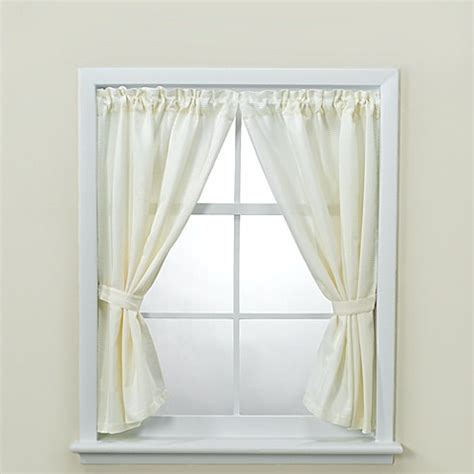 Buy westerly bathroom window curtain pair with tiebacks and hooks from bed bath amp beyond