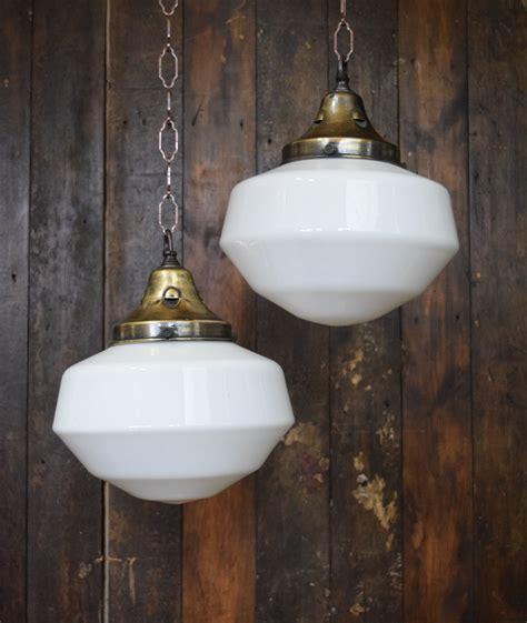 White Glass Pendant Lights Original Deco White Opaline Glass Pendant Light Sold Ashby Interiors