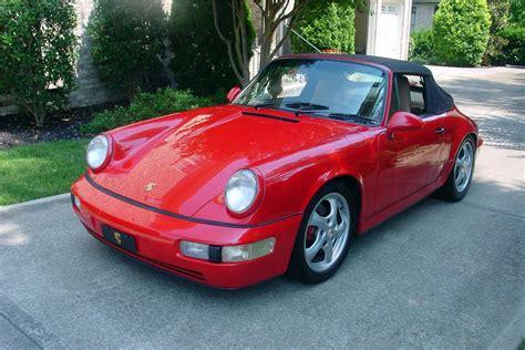 1990 porsche 911 red 1990 porsche 911 carrera 4 cabriolet 186538