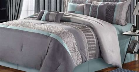 chic home euphoria comforter luxury home euphoria grey blue embroidered 8 piece