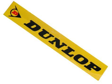 Helm Aufkleber Gelb by Aufkleber Dunlop 11x2cm Gelb Schwarz Aufkl98004683