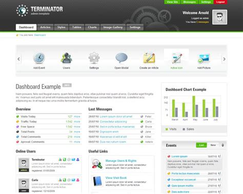 admin backend templates free and premium customizable css html admin templates