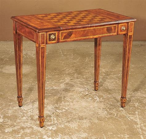 Chess Table by English Regency Chess Table