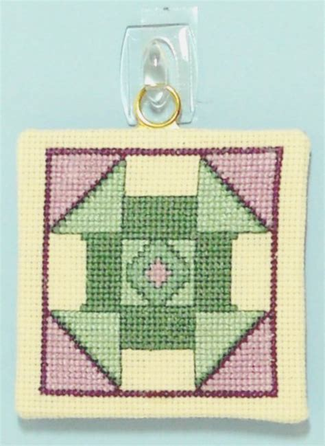 Cross Stitch Quilt Block Patterns by Churn Dash Quilt Block Counted Cross Stitch Pattern