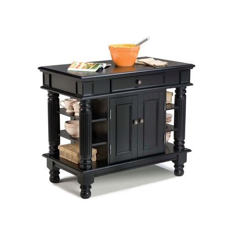 black kitchen islands home styles americana black kitchen island with storage