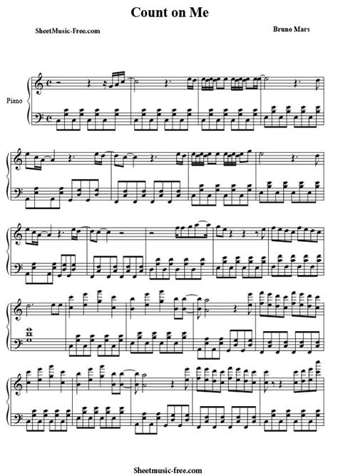 bruno mars piano mp3 download count on me sheet music bruno mars sheet music free
