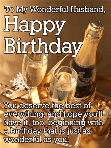 Happy Birthday Becks Our Gifts For You by You Deserve The Best Happy Birthday Card For Husband