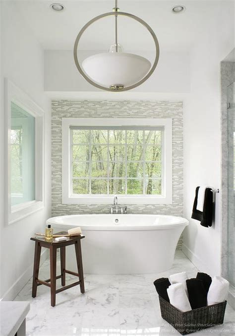 bathroom tile accent wall bathroom with gray glass tile accent wall contemporary
