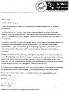 Reference Letter For Special Education Aide Letters Of Recommendation Cmu E Portfolios