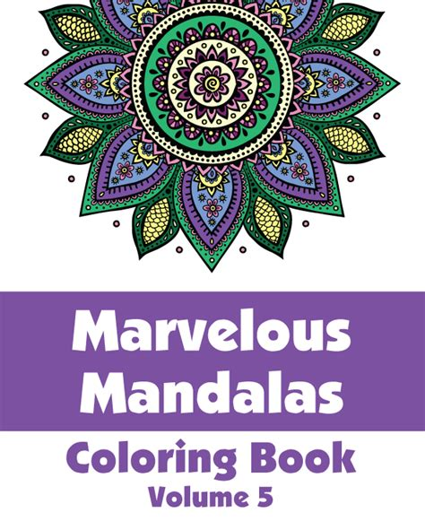 coloring book vol 5 mandala by bee book coloring book mandala volume 5 books marvelous mandalas coloring book volume 5 h r wallace