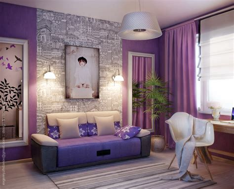 purple bedroom accent wall purple bedroom love the accent wall on this one gee
