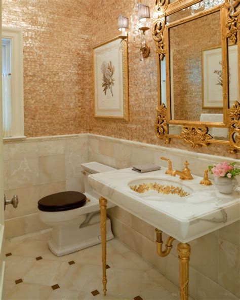 houzz bathroom wallpaper newton residence 1 powder room dplk 59 traditional