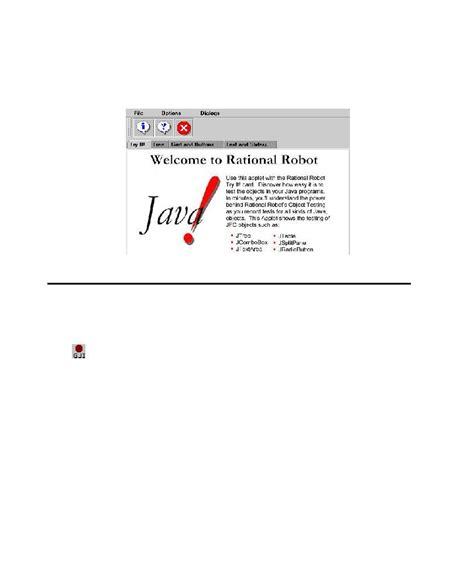 tutorial java applet pdf rational robot tutorial starting the sle java applet