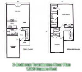 Two Bedroom Townhouse Town House Floor Plans Find House Plans